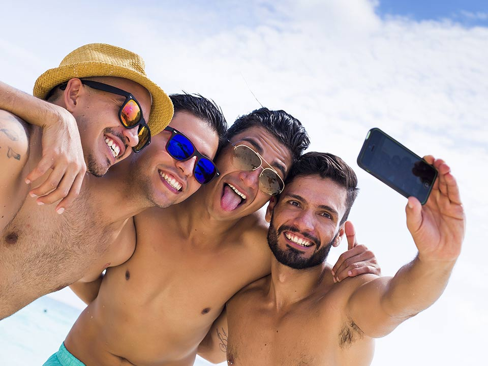 4 dudes taking a selfie