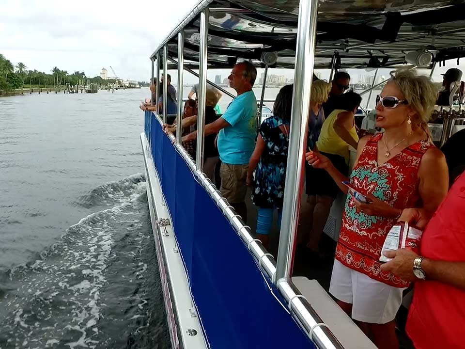 People site seeing on Manatee Queen